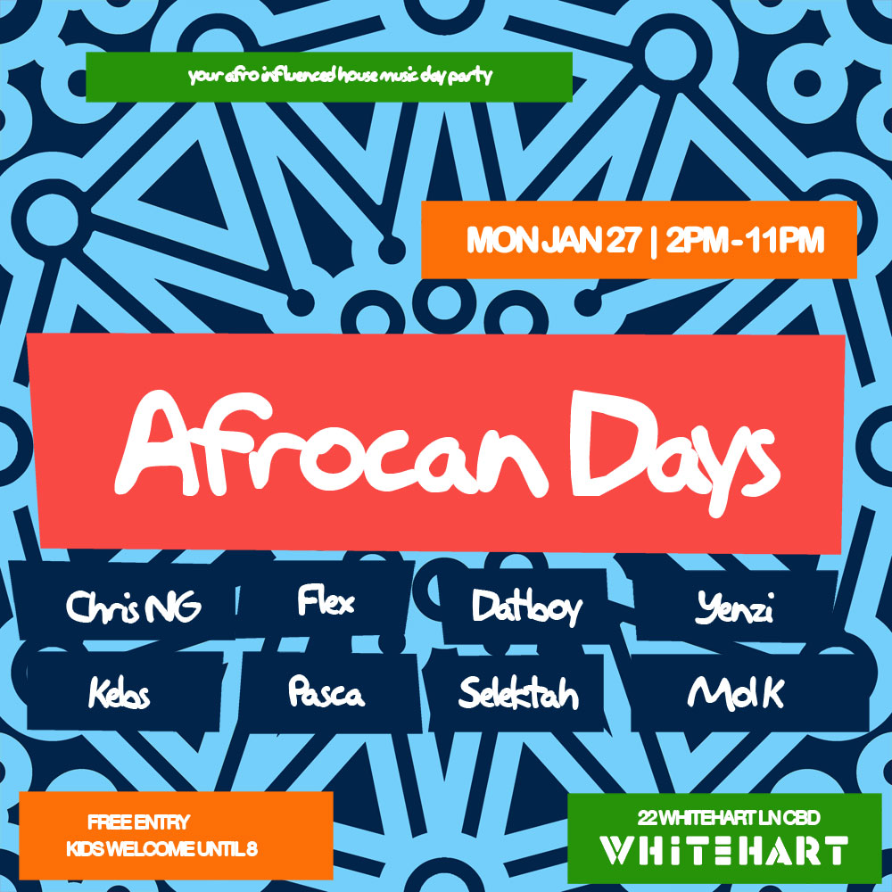 Afrocan Days Oz Day Holiday @ Whitehart Mon Jan 27